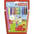 Filzstift - STABILO Trio A-Z - 12er Pack - mit 12...