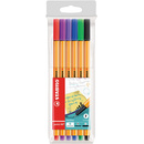 Fineliner STABILO® point 88® Etui, mit 6 Stiften