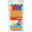Fineliner STABILO® point 88® Etui, mit 20 Stiften
