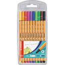 Fineliner - STABILO point 88 - 10er Pack - Standardfarben
