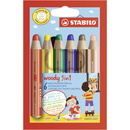 Multitalent-Stift STABILO® woody 3 in 1, Kartonetui mit 6...