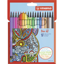 Premium-Filzstift - STABILO Pen 68 - 18er Pack - mit 18...