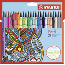 Premium-Filzstift - STABILO Pen 68 - 24er Pack - mit 24...
