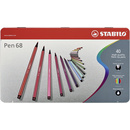 Premium-Filzstift - STABILO Pen 68 - 40er Metalletui -...