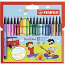 Premium-Filzstift - STABILO Pen 68 Mini - 18er Pack - mit...