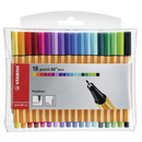 Fineliner - STABILO point 88 Mini - 18er Pack - mit 18...