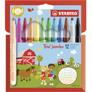 Dicker Filzstift - STABILO Trio Jumbo - 12er Pack - 12...