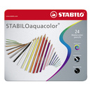 Aquarell-Buntstift - STABILO aquacolor - 24er Metalletui...